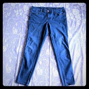 Melissa McCarthy 7 cropped leggins blue jeans 16